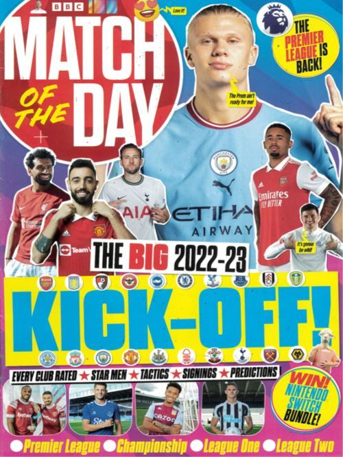 Cover: Match of the Day magazine magazine