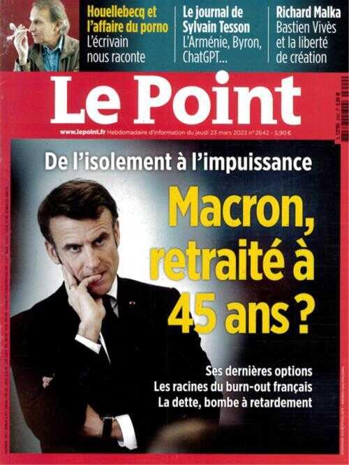 Cover: Le Point magazine