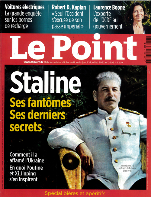 Cover: Le Point magazine