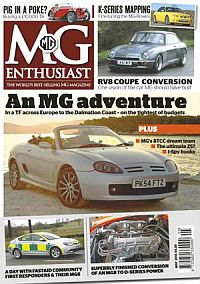 Cover: M.G Enthusiast magazine