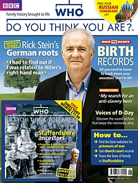 Cover: BBC Who do you think you are? magazine